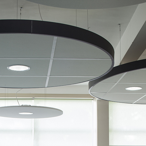 Acoustic ceiling canopies
