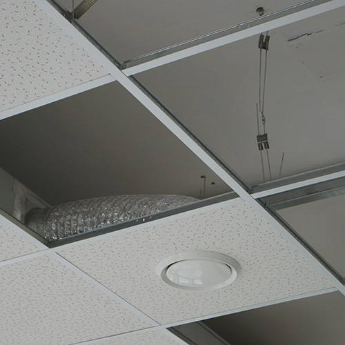 Installation of a suspended ceiling system