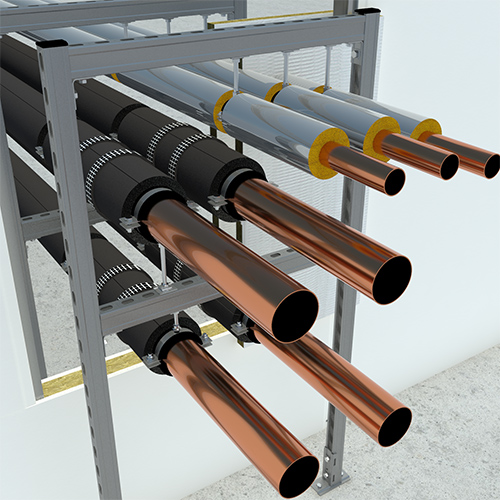 Passive fire protection for insulated pipework