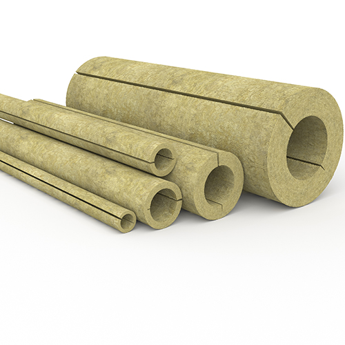Mineral fibre insulation pipe sections