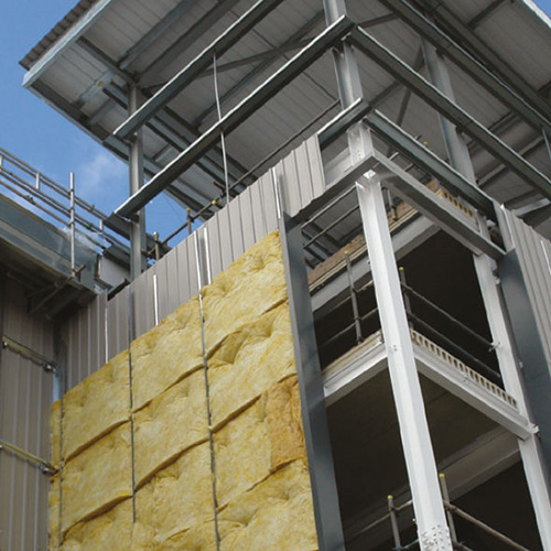 Insulation installation in metal wall construction