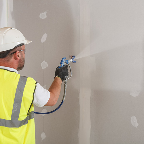 Spray plaster application
