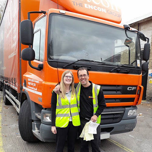 Encon Transport Manager Completing HGV Training