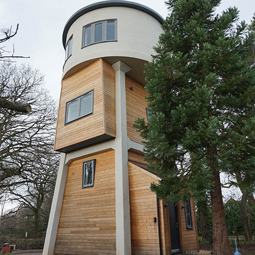 Water Tower with Actis Insulation Installed