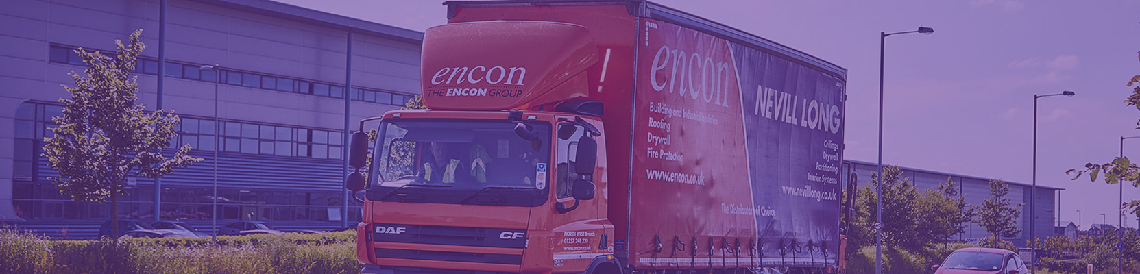 Encon Insulation and Nevill Long truck heading out on deliveries