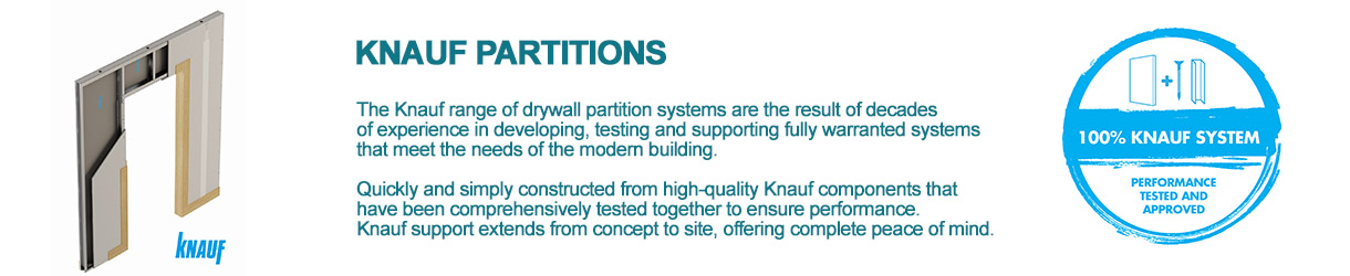 Knauf Partitions and system warranty advertisement