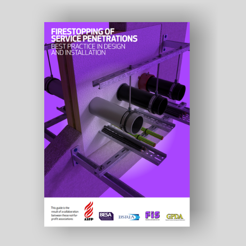 Firestopping Of Service Penetrations Installation Guide Front Cover